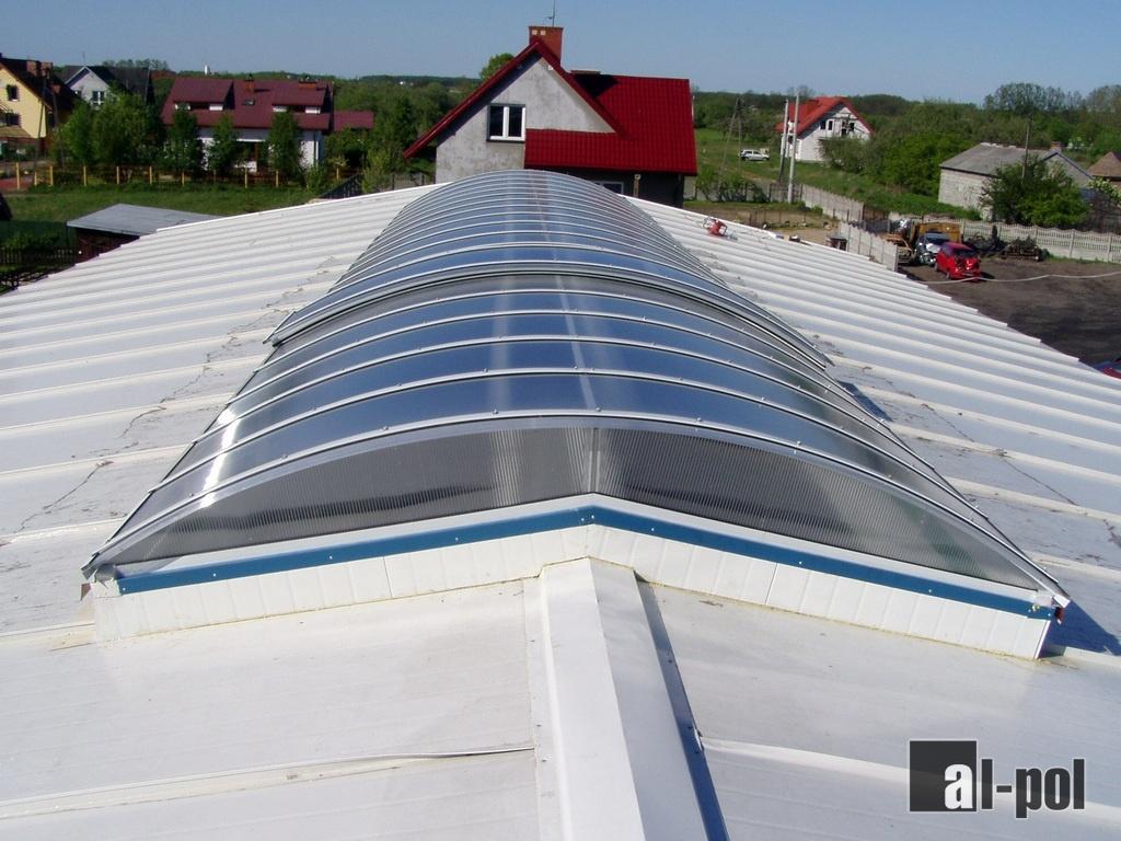 Rewelacyjny Al-Pol - świetliki dachowe, daszki, świetliki kopułkowe HX43